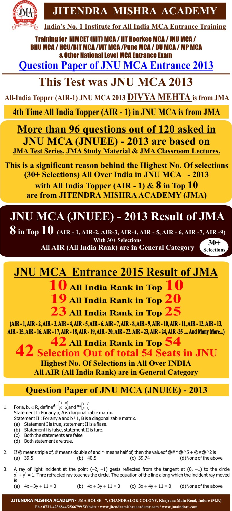 JNU 2013 PAPER (FIRST PAGE)