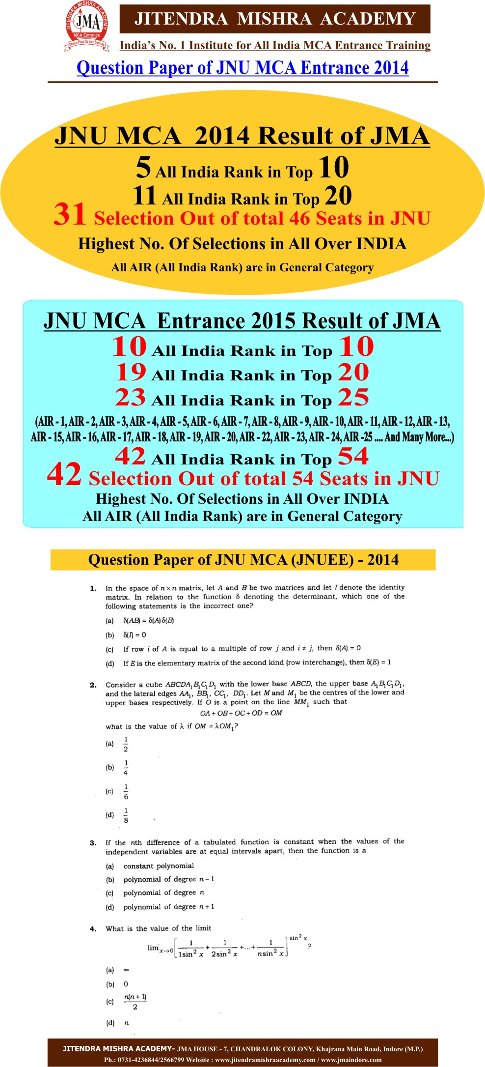 JNU 2014 PAPER First Page