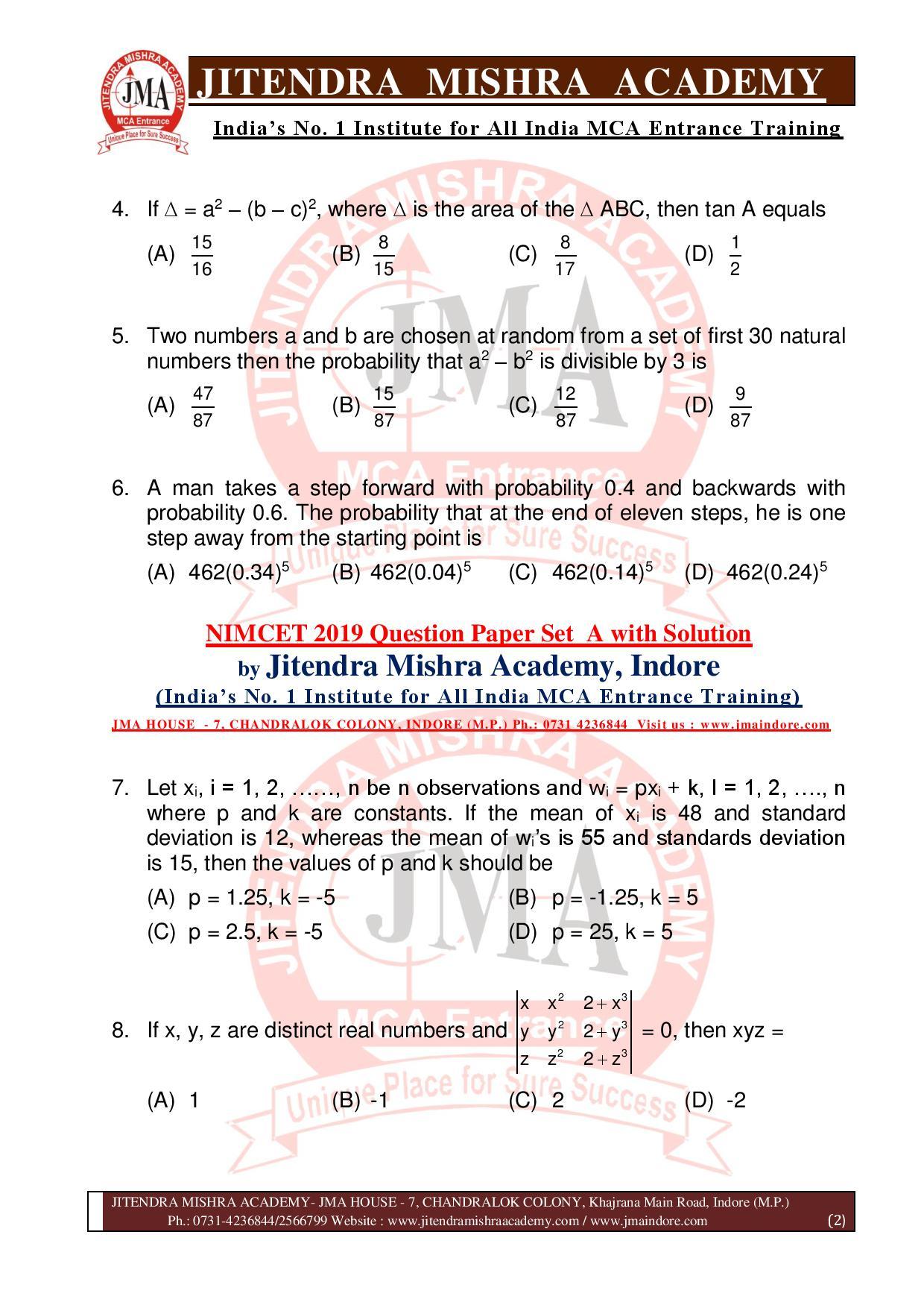 NIMCET 2019 QUESTION PAPER (SET - A) final-page-002