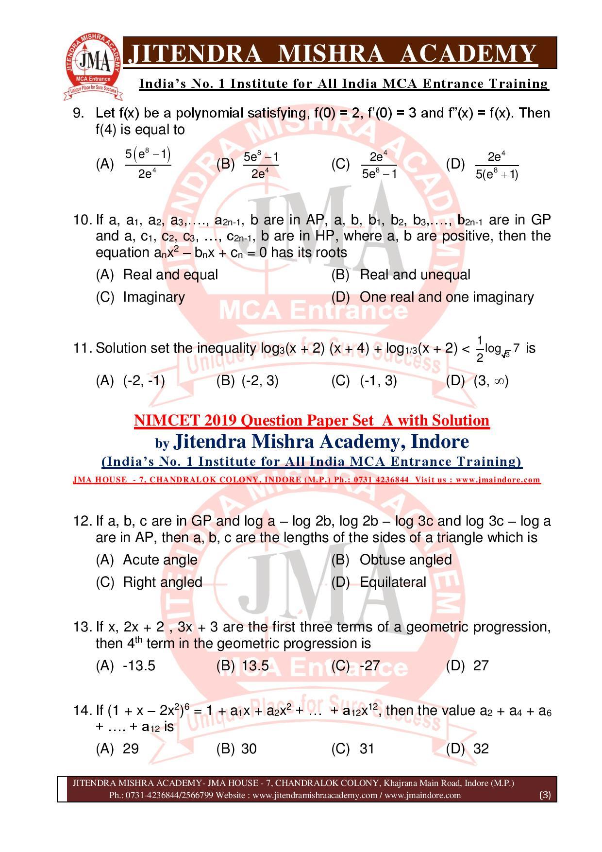 NIMCET 2019 QUESTION PAPER (SET - A) final-page-003