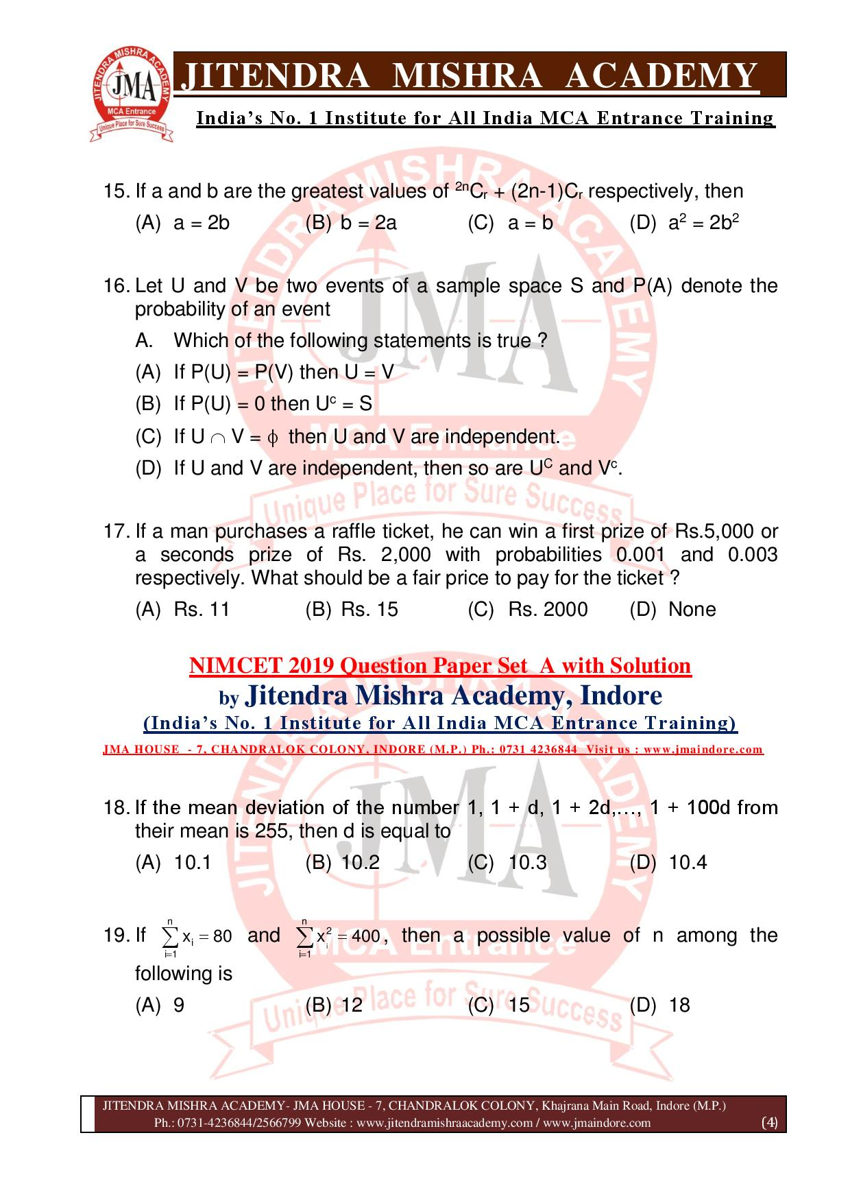 NIMCET 2019 QUESTION PAPER (SET - A) final-page-004