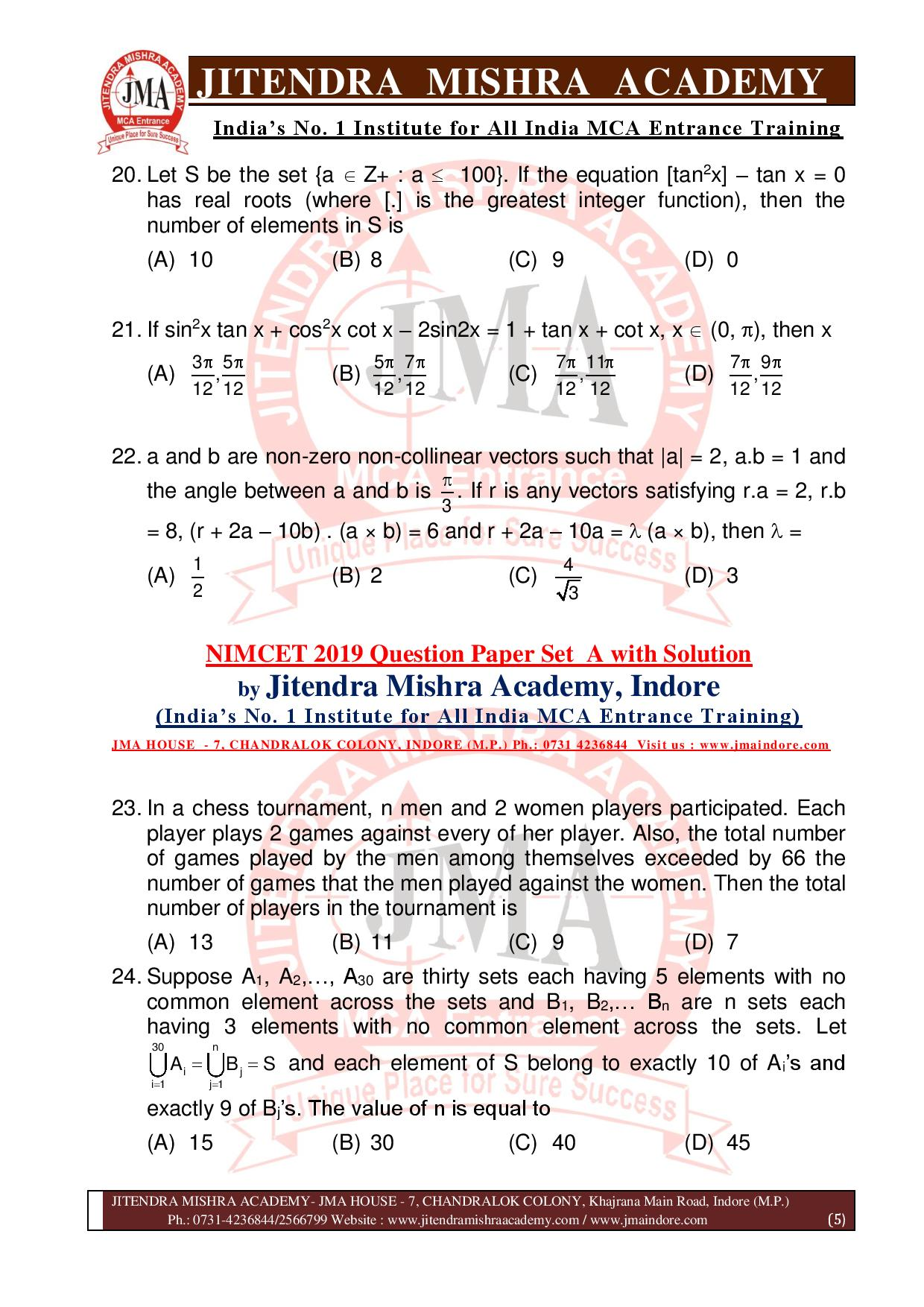 NIMCET 2019 QUESTION PAPER (SET - A) final-page-005