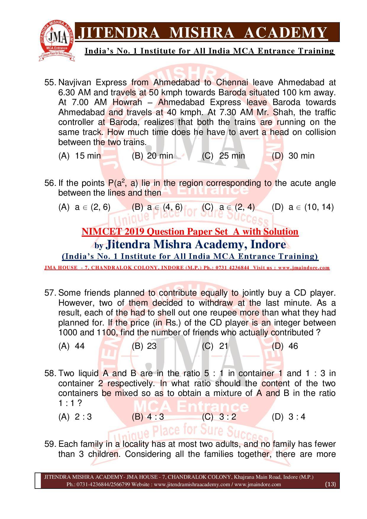 NIMCET 2019 QUESTION PAPER (SET - A) final-page-013