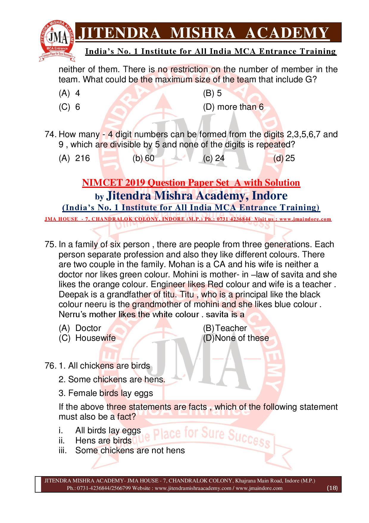 NIMCET 2019 QUESTION PAPER (SET - A) final-page-018