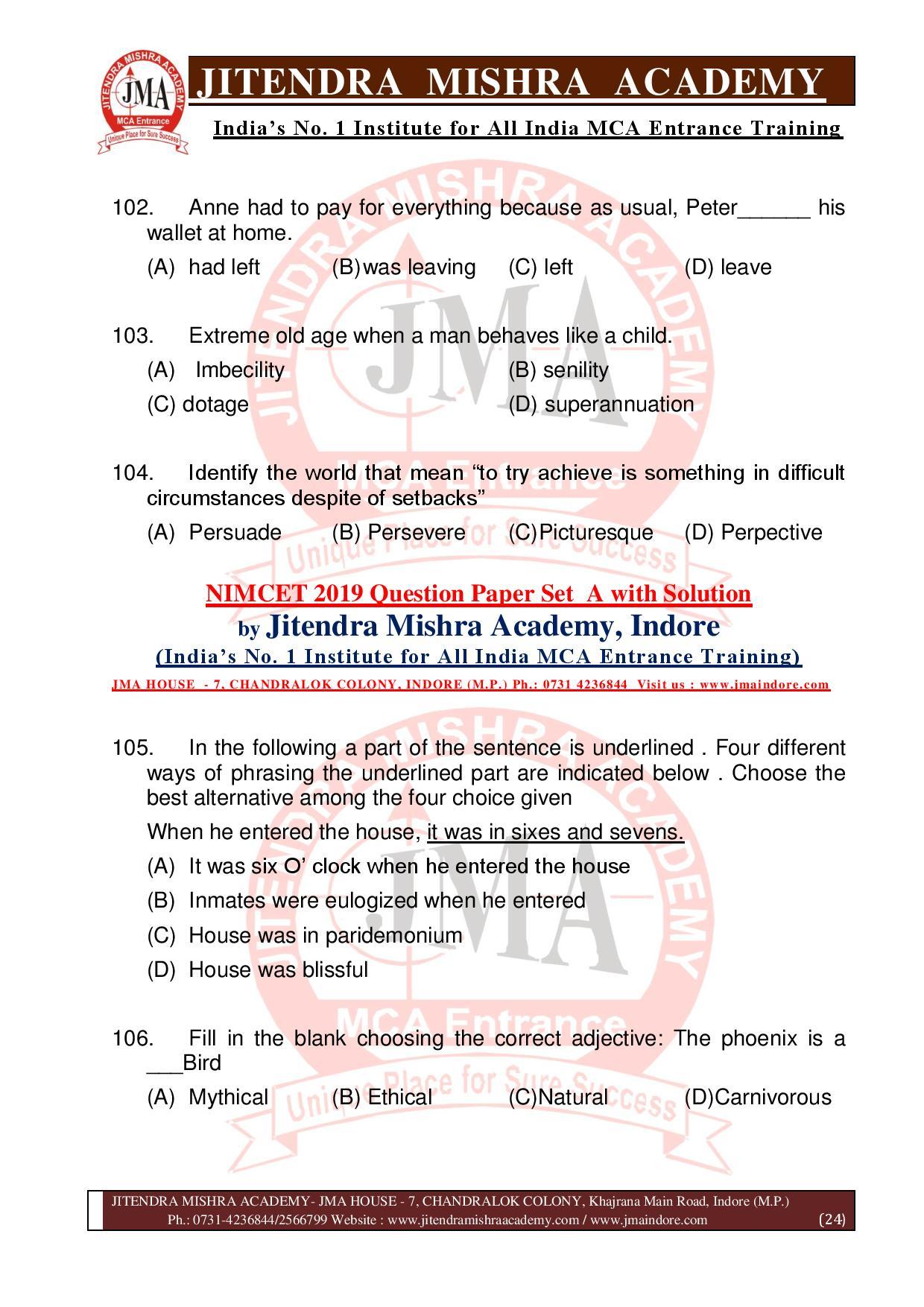 NIMCET 2019 QUESTION PAPER (SET - A) final-page-024