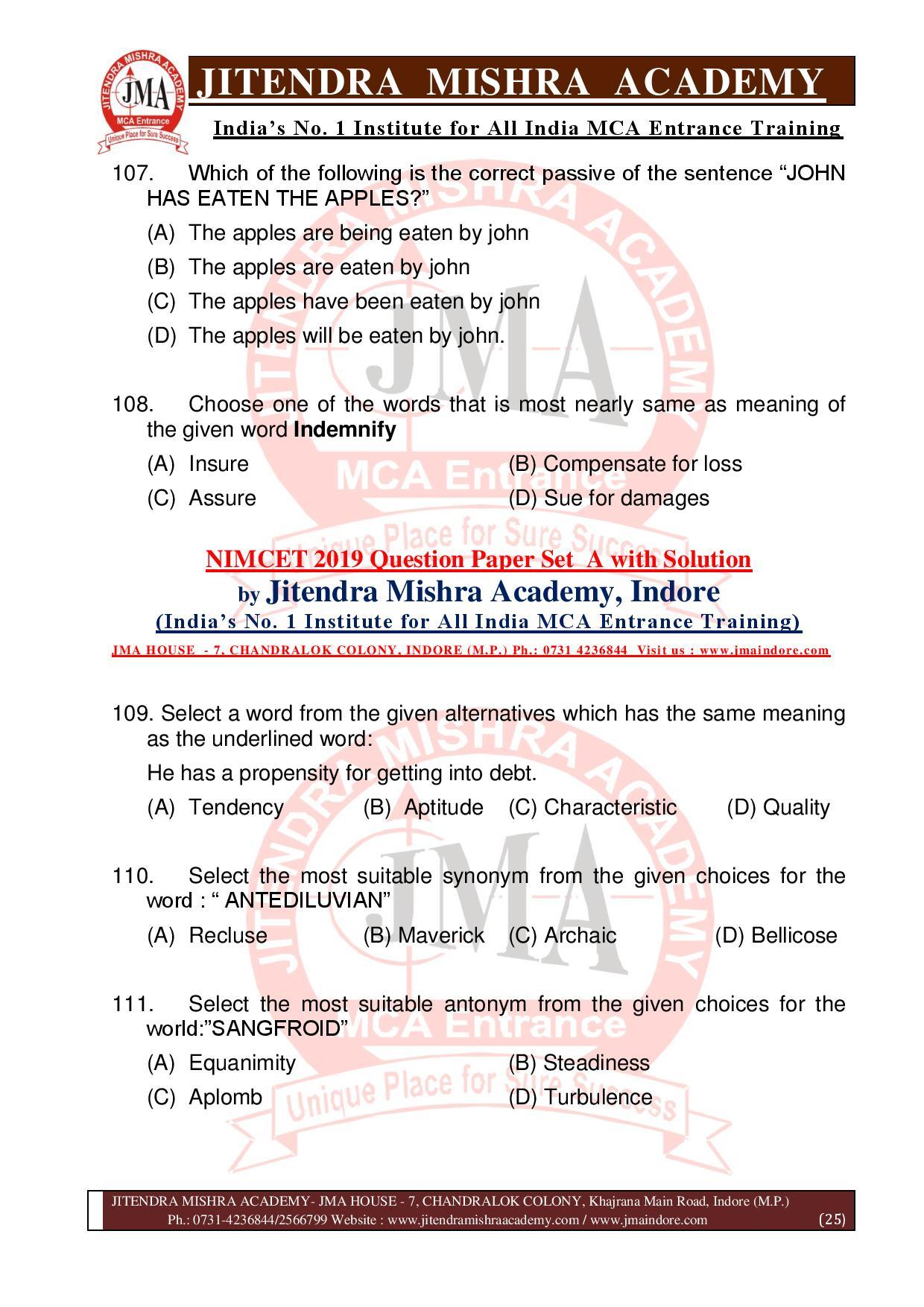 NIMCET 2019 QUESTION PAPER (SET - A) final-page-025