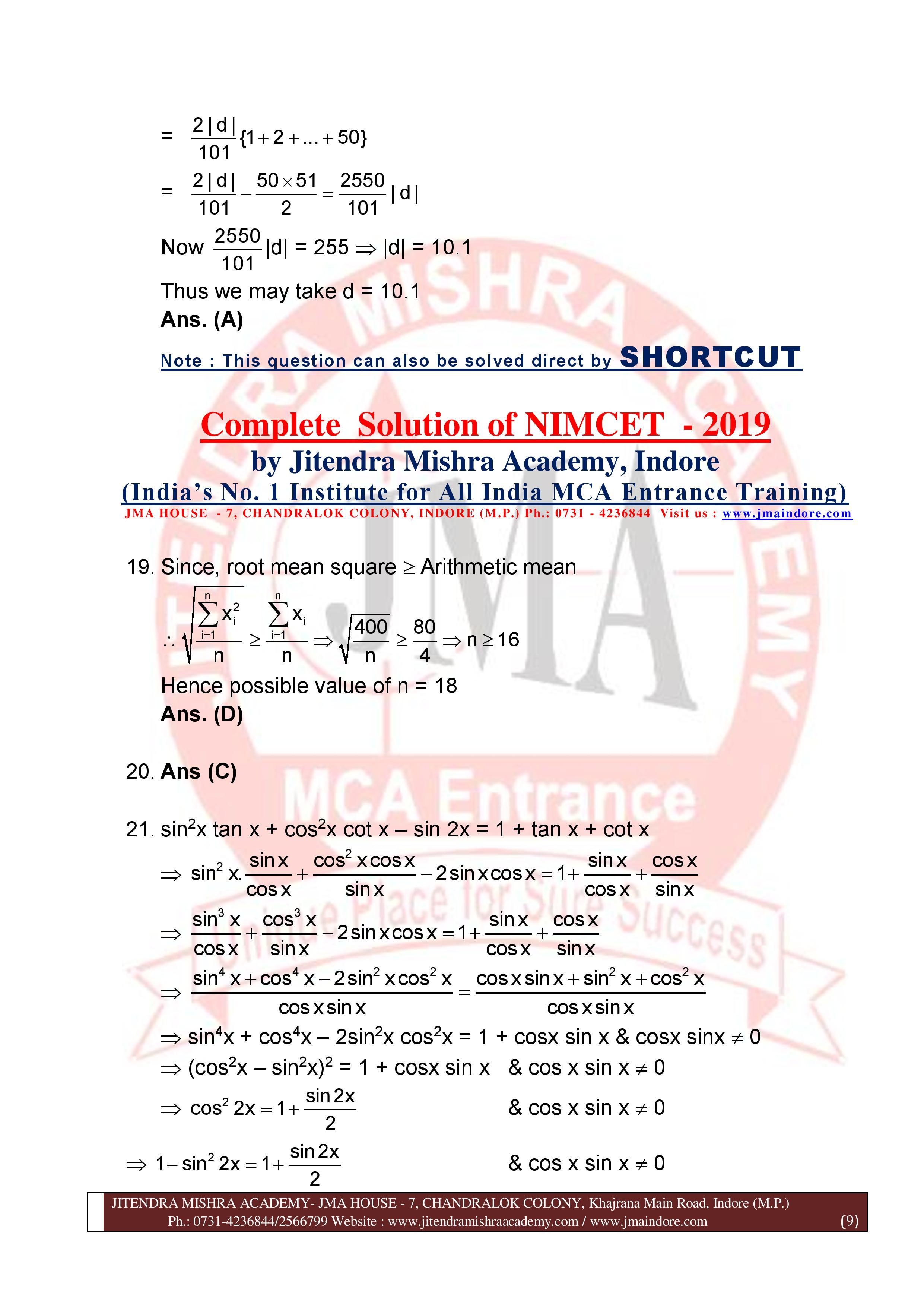 NIMCET 2019 SOLUTION (SET - A)-page-009
