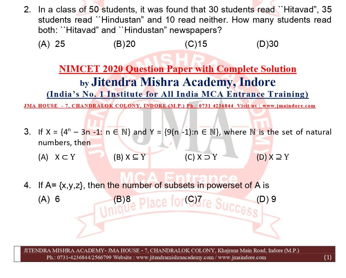 NIMCET 2020 QUESTION PAPER (FINAL)_page-0001