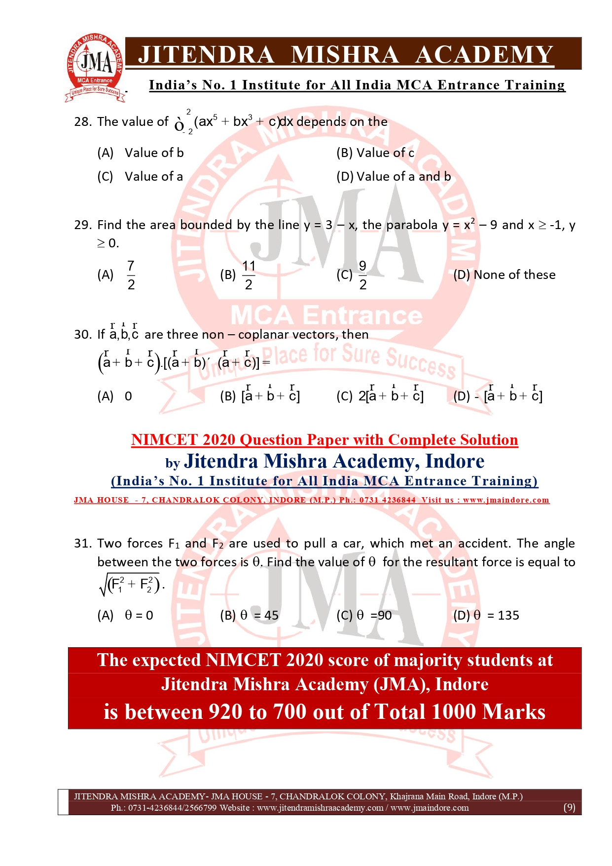 NIMCET 2020 QUESTION PAPER (FINAL)_page-0009