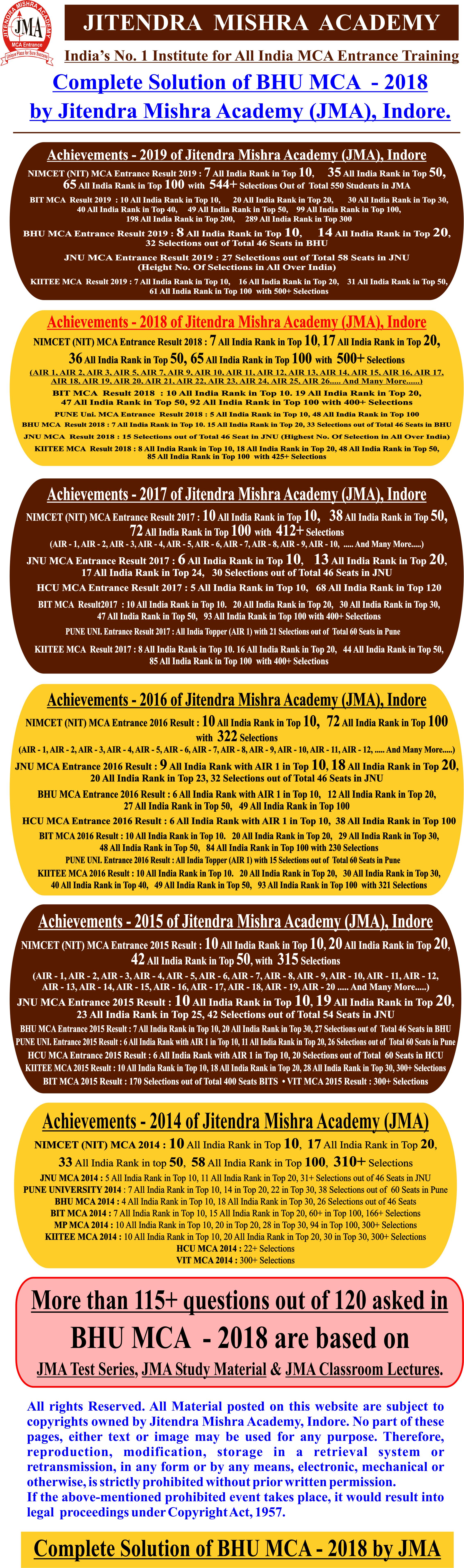 1BHU MCA - 2018 (SOLUTION).