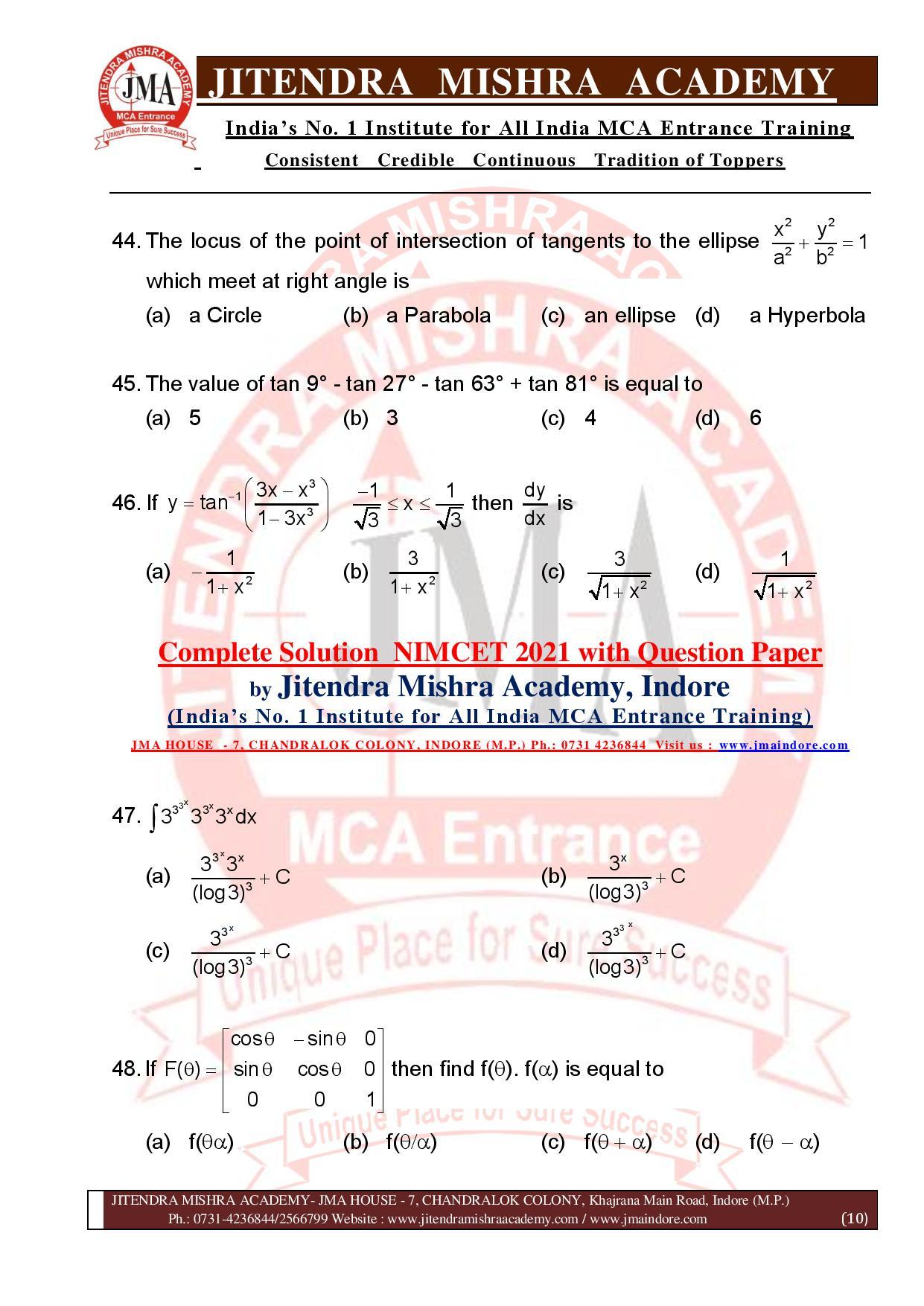 NIMCET 2021 QUESTION PAPER (F)-page-010