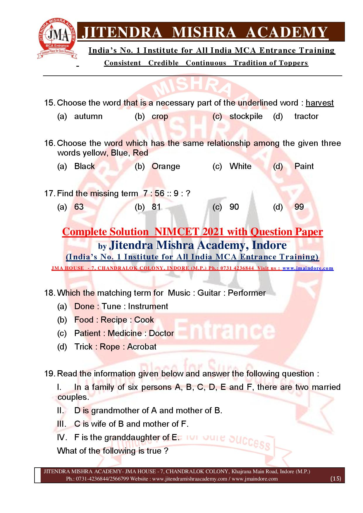NIMCET 2021 QUESTION PAPER (F)-page-015