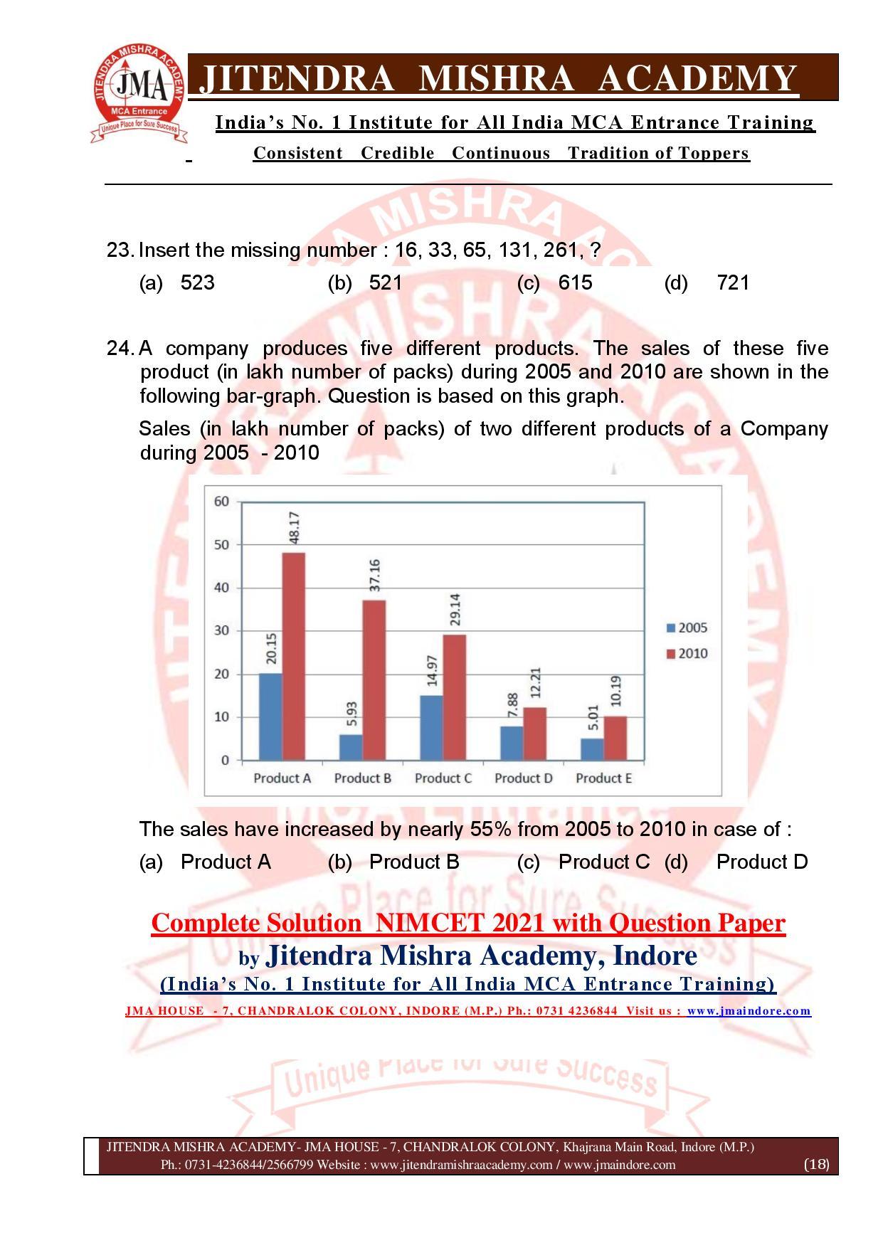 NIMCET 2021 QUESTION PAPER (F)-page-018