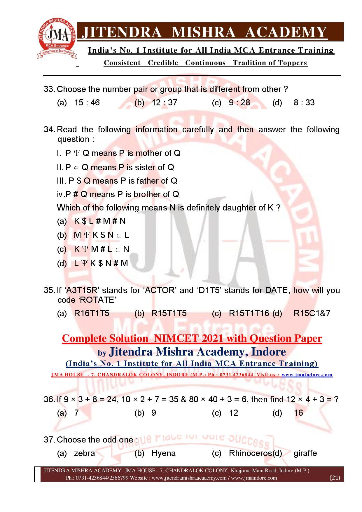 NIMCET 2021 QUESTION PAPER (F)-page-021