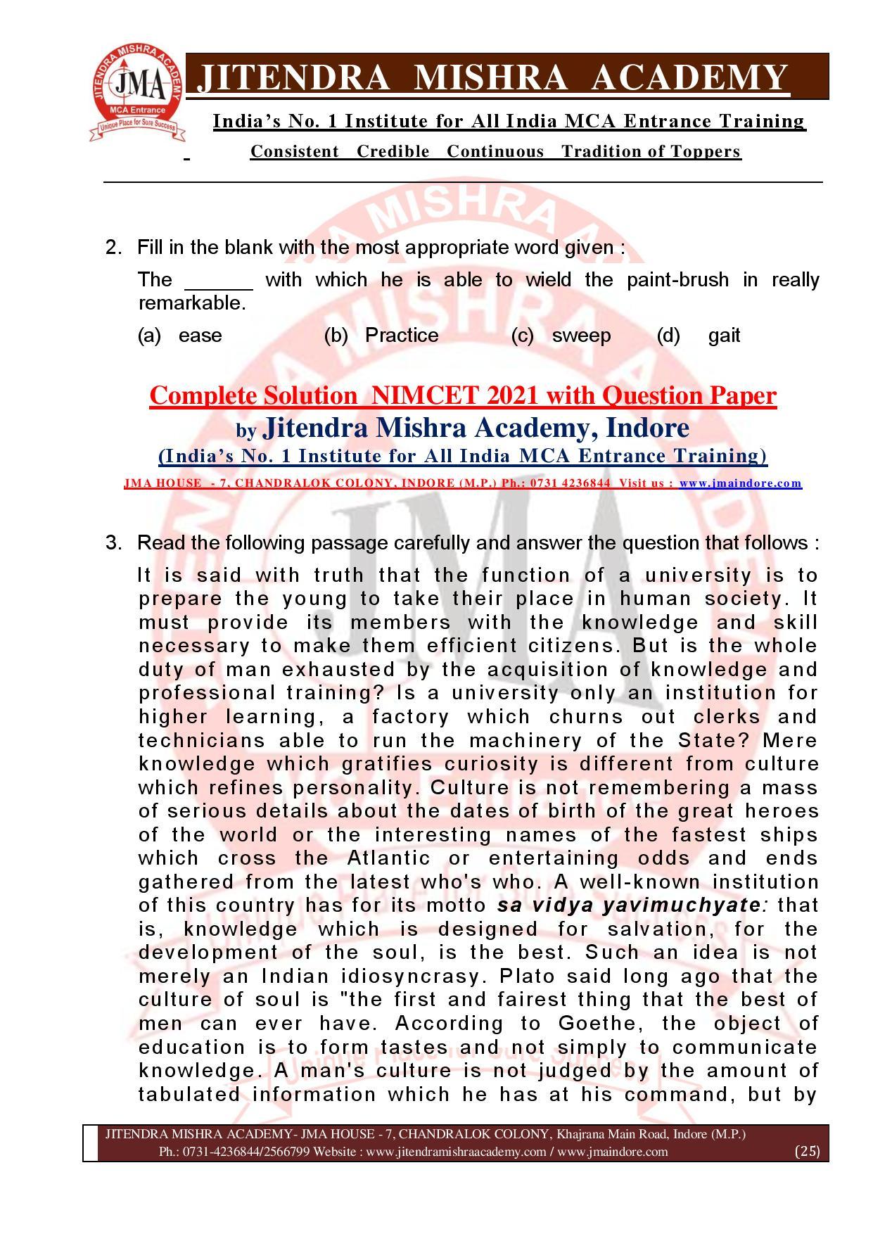 NIMCET 2021 QUESTION PAPER (F)-page-025