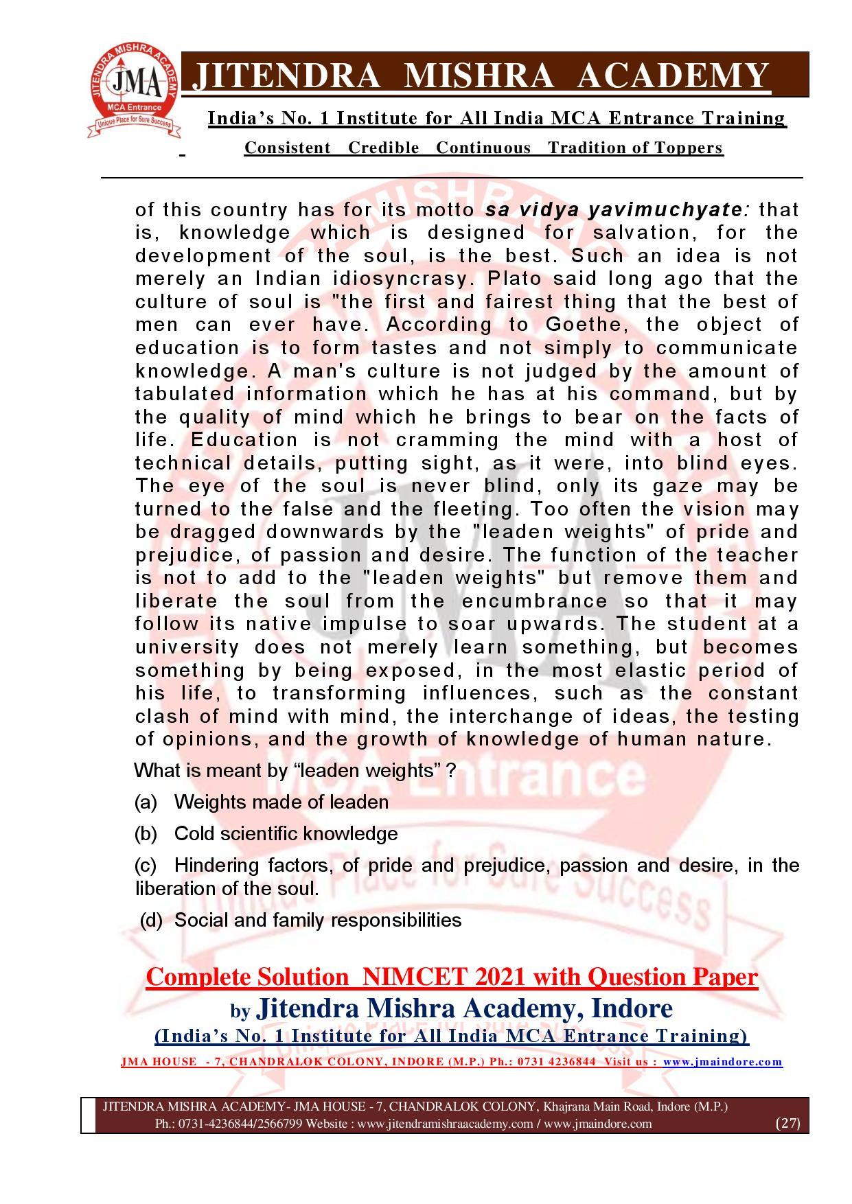 NIMCET 2021 QUESTION PAPER (F)-page-027