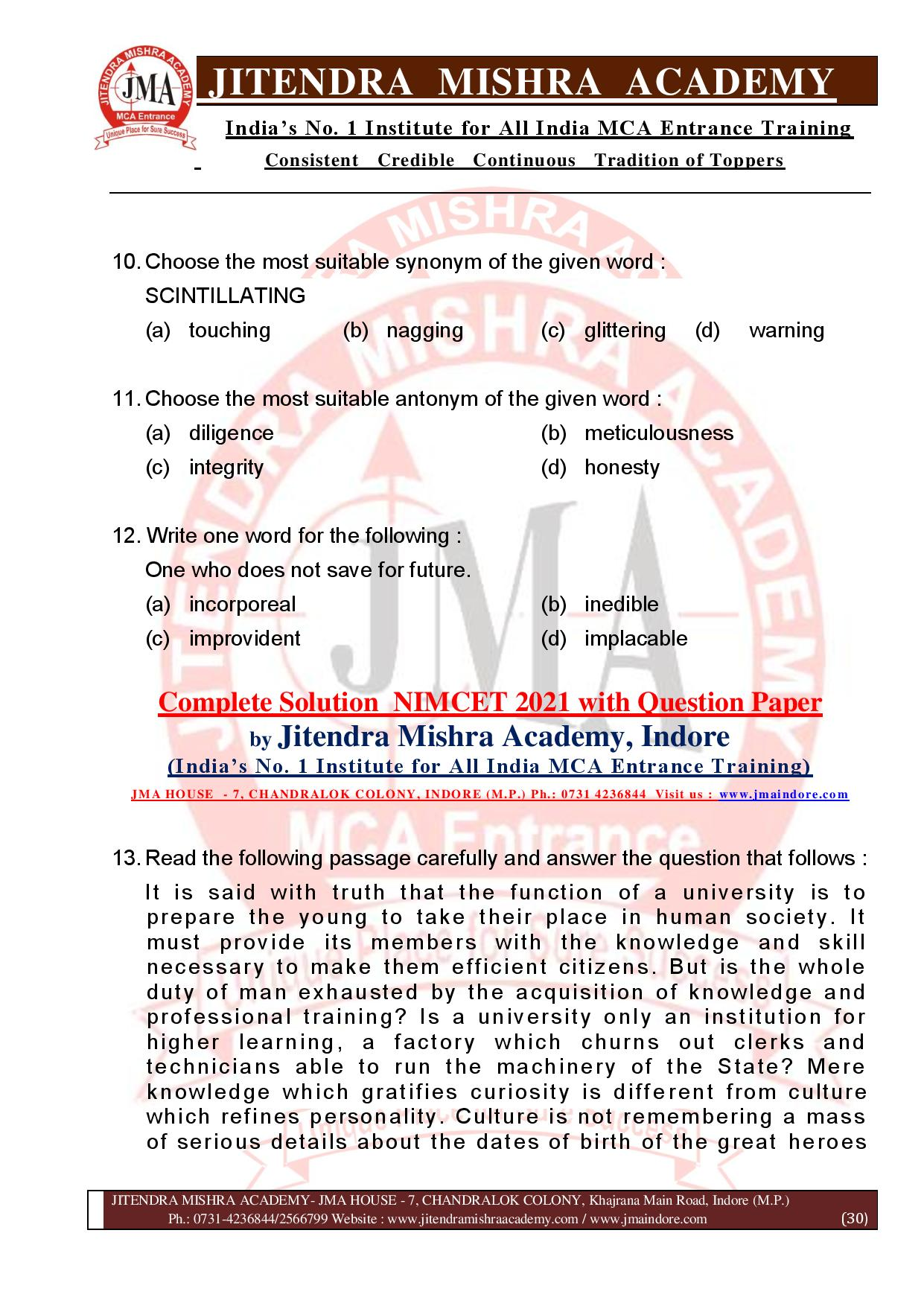 NIMCET 2021 QUESTION PAPER (F)-page-030