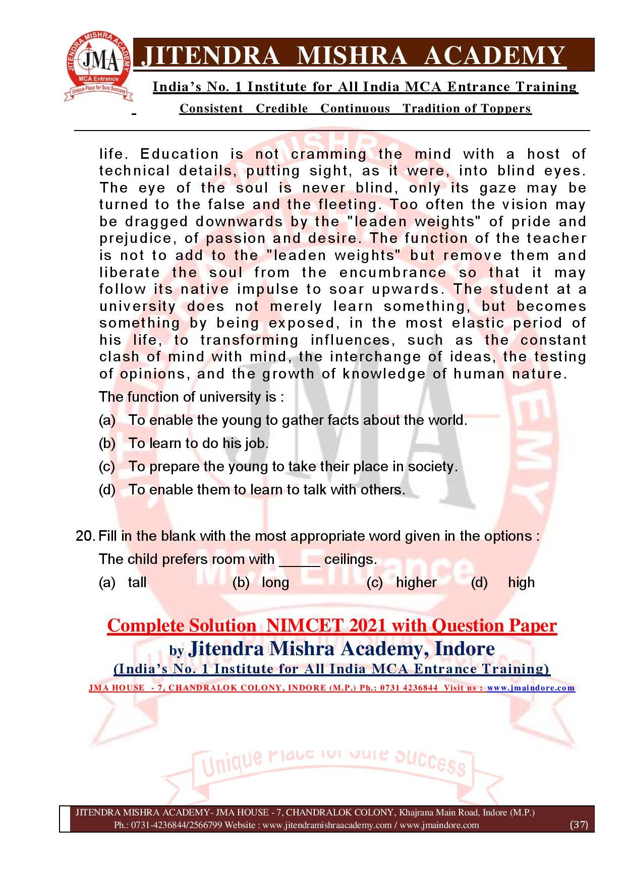 NIMCET 2021 QUESTION PAPER (F)-page-037